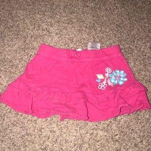 Disney Red Ruffled Skirt Shorts Under